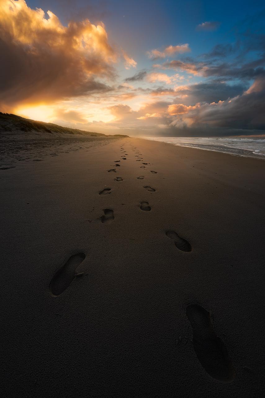 Footsteps - North Sea beach